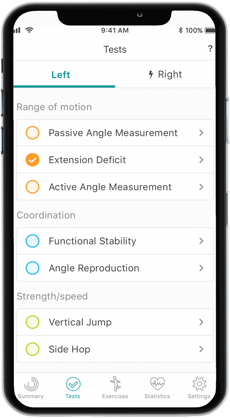 Overview Tests app orthelligent